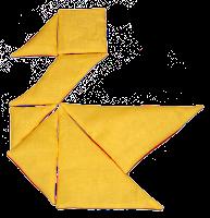 Fabric Tangram Swan