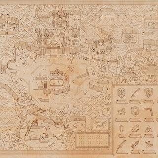 Wooden Zelda map