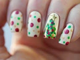 christmas tree nail art 2015, christmas nails designs