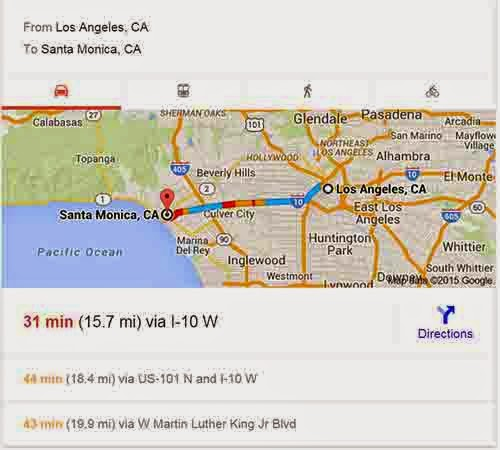 Google Travel Directions