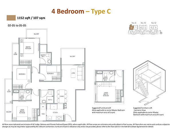 4 Bedrooms Floor Plan