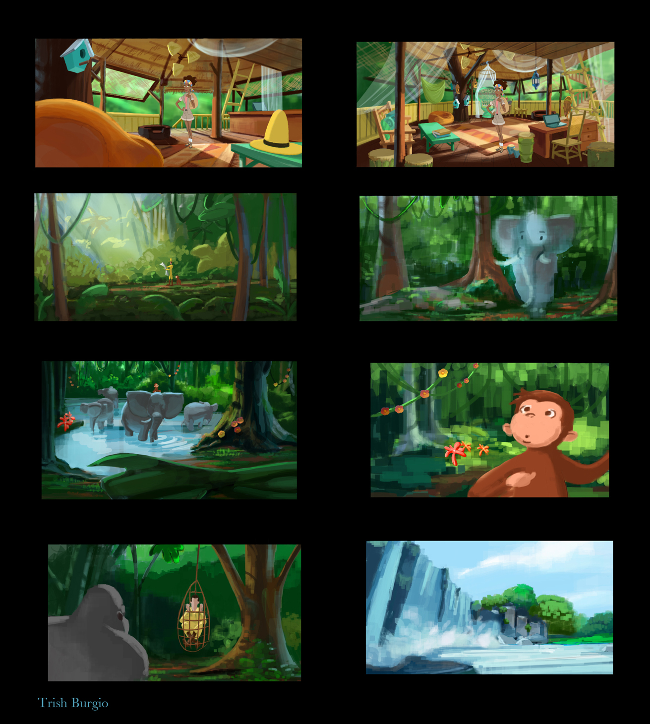 Color Scripting for Curious George