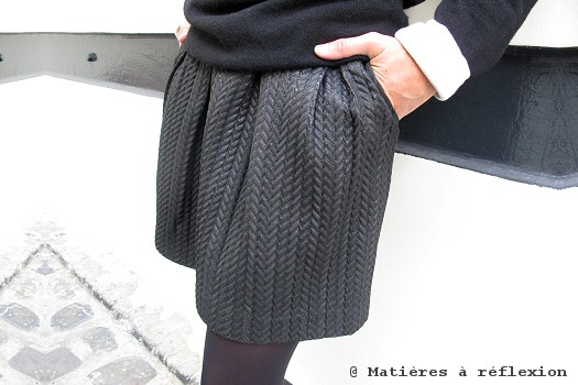 Jupe plissé taille haute Custommade