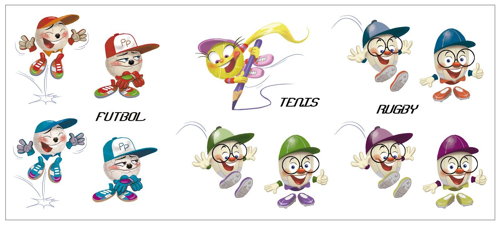 Personajes pelotas