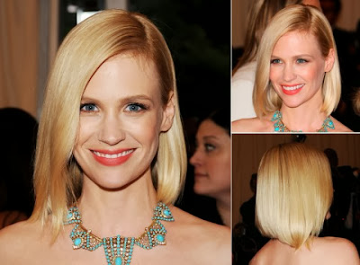 January Jones short haircut with bang