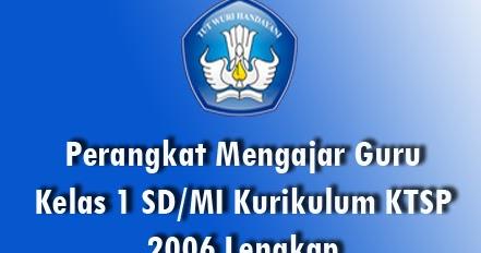 Upt Tk Sd Kecamatan Medan Belawan Download Perangkat Pembelajaran Sd Mi Kelas I Semester 1 Dan