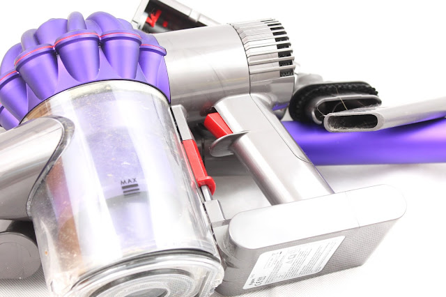 close up of dyson v6 animal cordless hoover