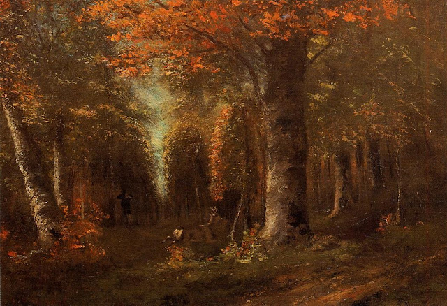 forest,gustave courbet,french realism