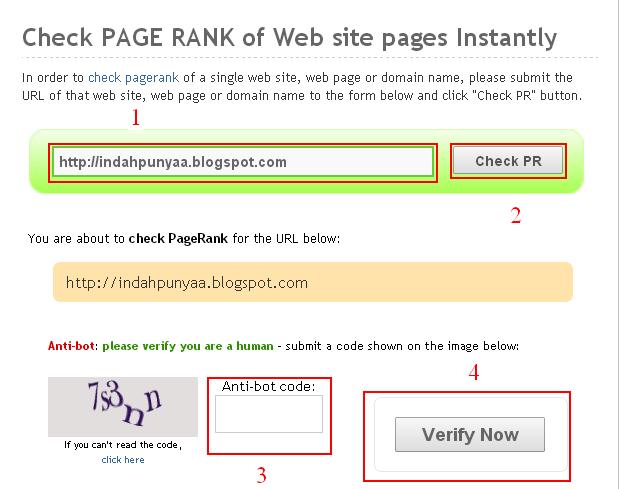 Cara Mudah Cek PageRank Blog
