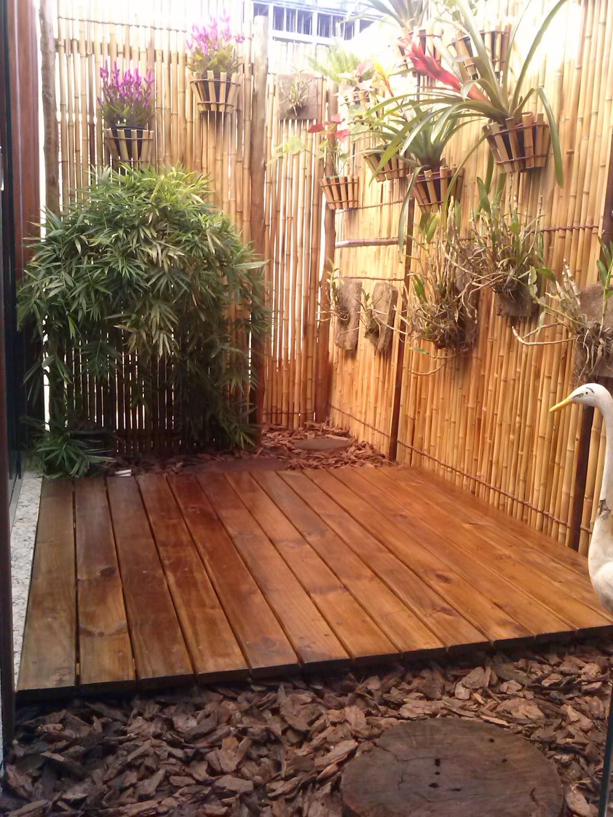 decoracao jardim bambu: Decoração – Marcenaria – Paisagismo.: Jardim de inverno – Teca Bambu