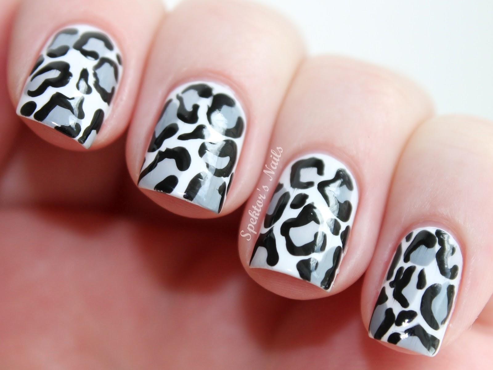 nail Decoração Leopard