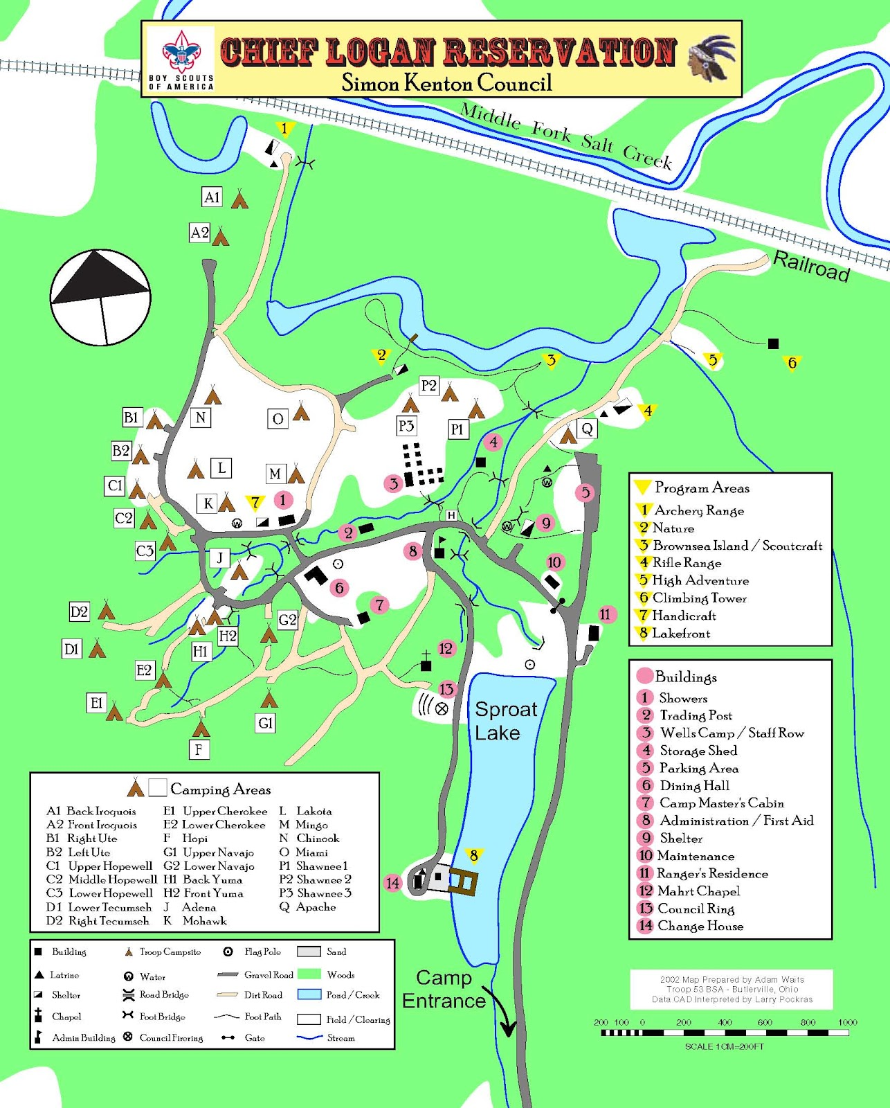 boys scout camping list