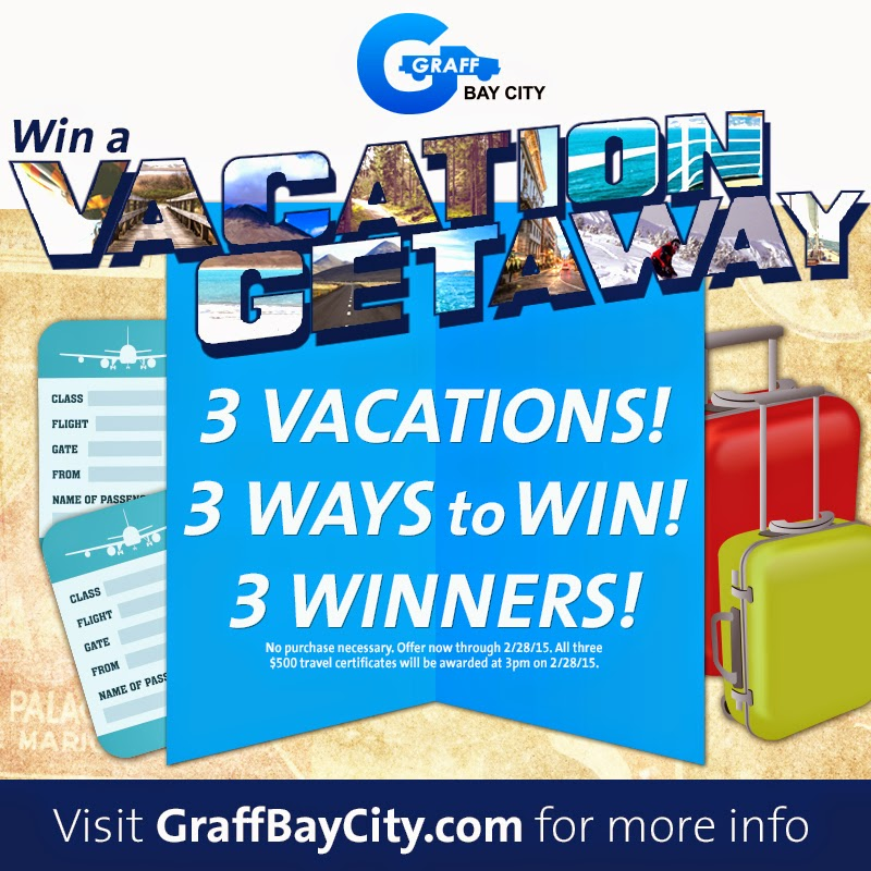 Vacation Getaway Giveaway at Graff Bay City