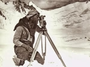 Eric Shipton surveying in the Karakorum....