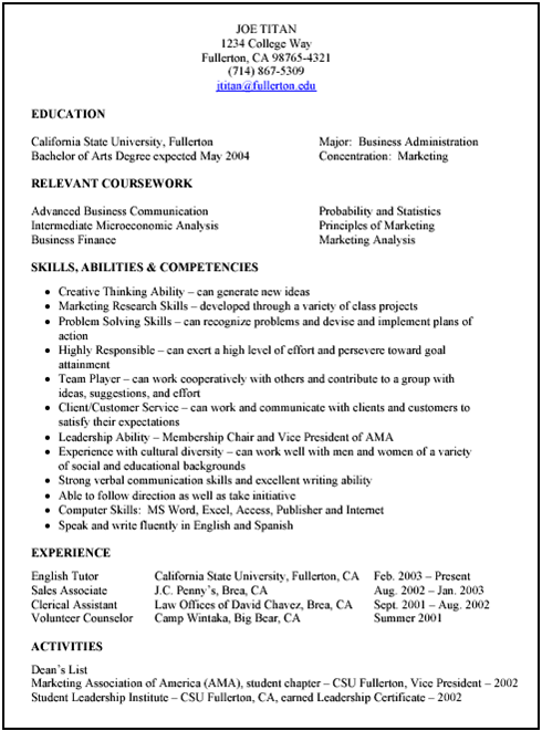 different types of skills for resumes
