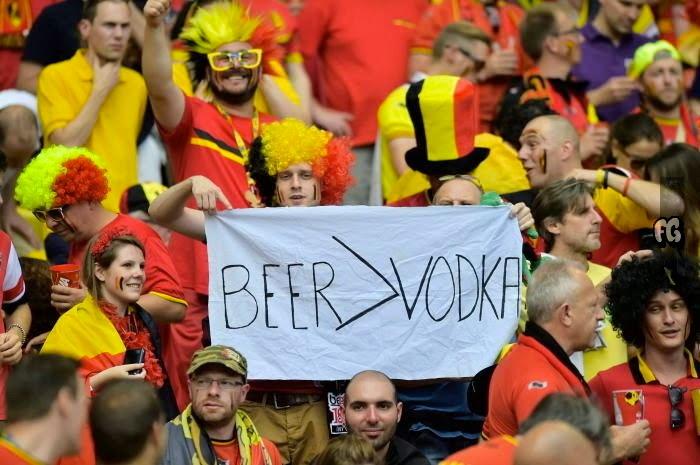 Belgium - Russia Supporters of Belgium during the Match