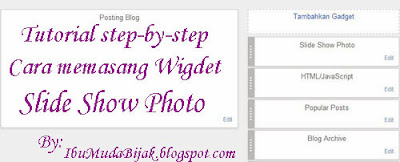 tutorial cara memasang slide show photo blog