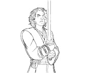 #7 Anakin Skywalker Coloring Page