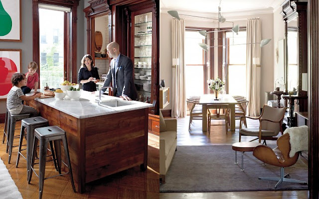 ze interior designs  stylish living in a brooklyn brownstone