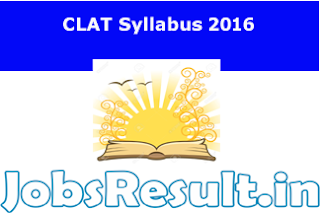 CLAT Syllabus 2016