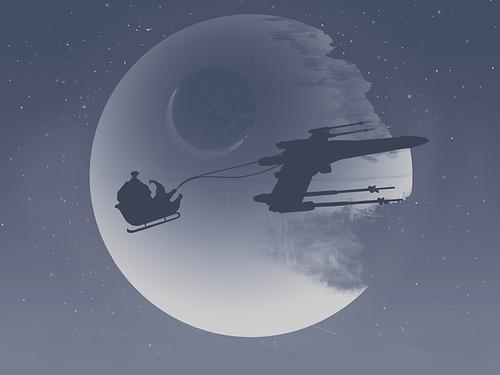 Papa Noel no monta renos, monta una X-Wing