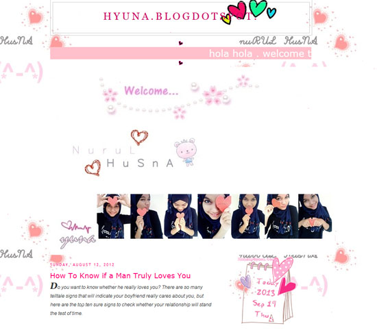 Blogger Nurul Husna - The World Netizen Muslimah 2013