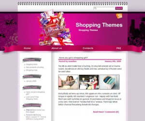 Shopaholic Fever Blogger Template