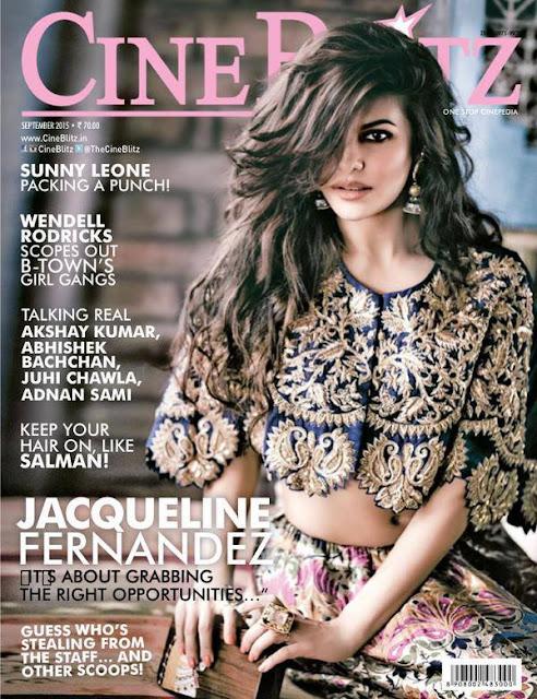 Actress, Model @ Jacqueline Fernandez - Cineblitz, September 2015