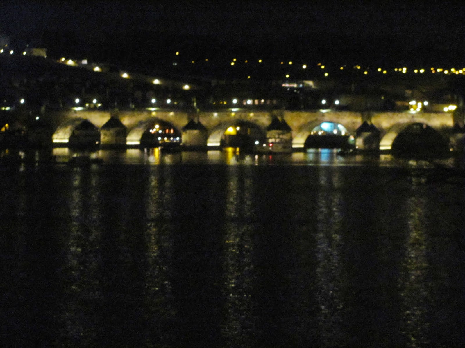 Charles Bridge at Night Prague Czech Republic