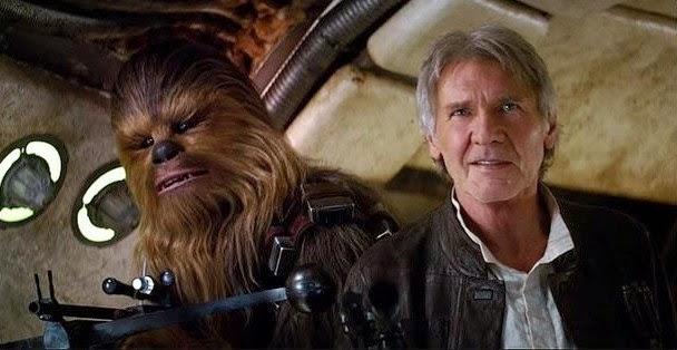 Imagen de Han Solo (Harrison Ford) en la película Stars Wars 7 El despestar de la fuerza