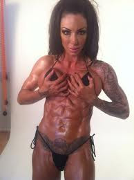 Jodie Marsh topless picture after weightlifting