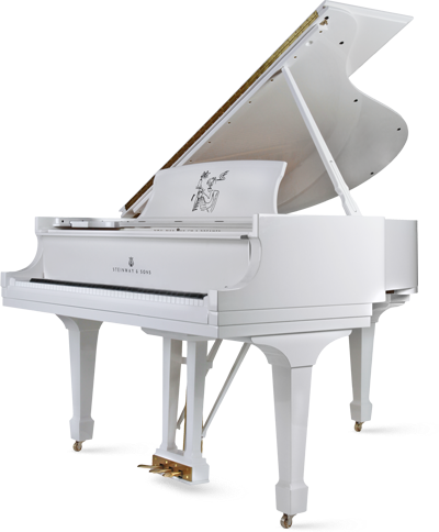 The Scandalous White Grand Piano - The Glam Pad