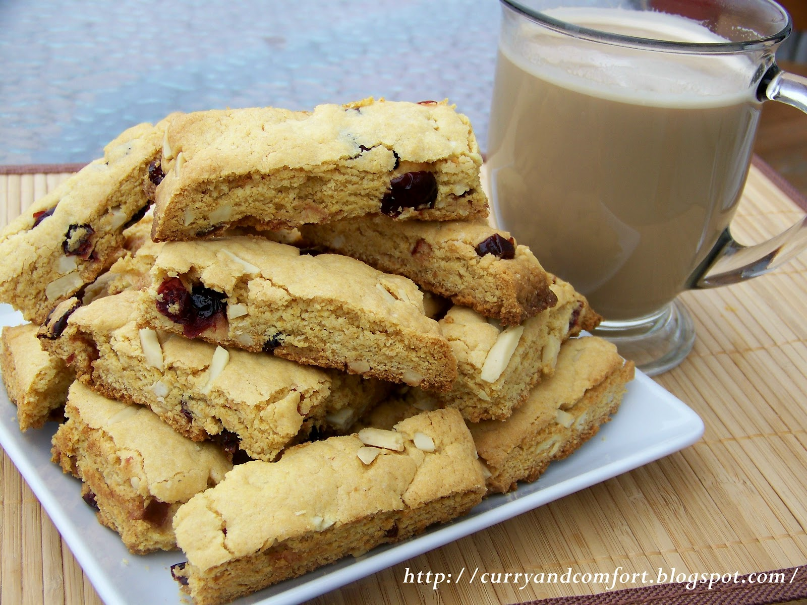 Curry and Comfort: Cranberry and Almond Biscotti