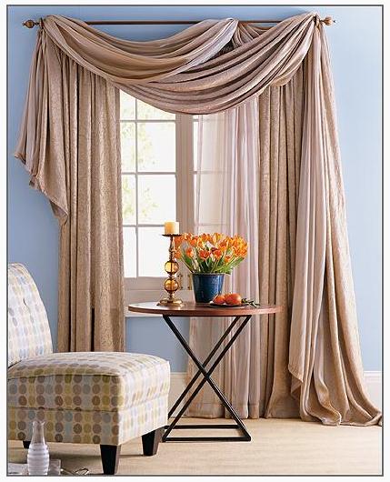 Ideas para cortinas en el sal n decorar mi casa - Formas de cortinas ...