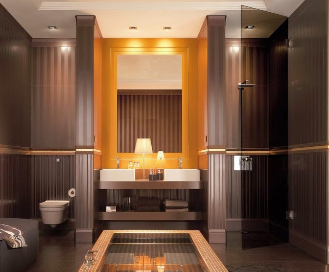 Decoracion Baño Marron Beige:10 fotos de baños en marrón chocolate – Colores en Casa