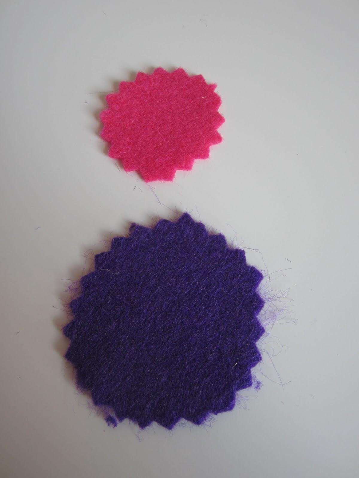 mis nancys, mis peques y yo, tutorial facil DIY tul y tela circulos fieltro