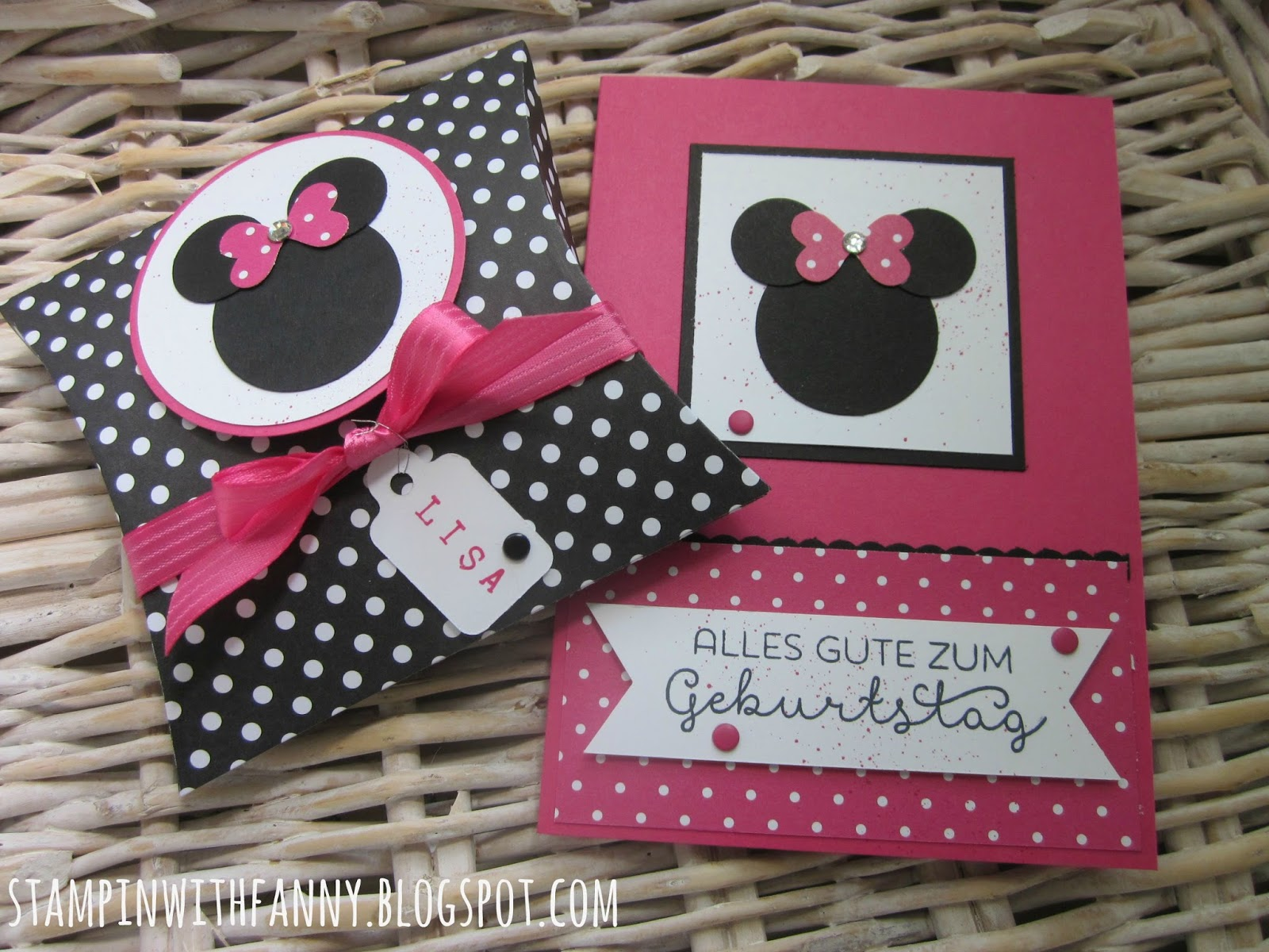 stampin with fanny zum geburtstag im minnie mouse style. Black Bedroom Furniture Sets. Home Design Ideas