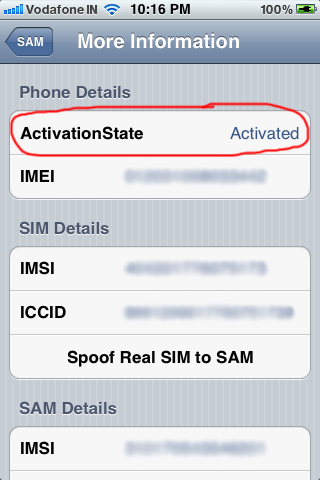 sam activation state