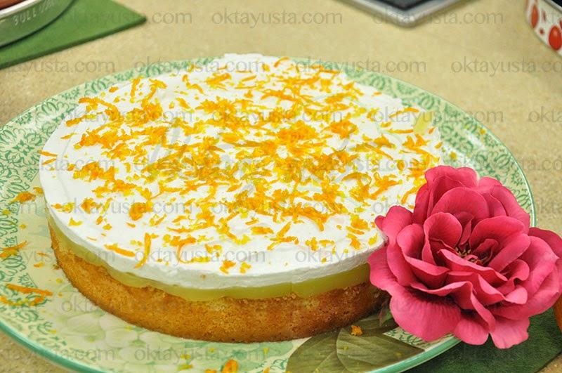 Portakallı Puf Pasta Tarifi Kolay Doğum Günü Pastası Yapımı