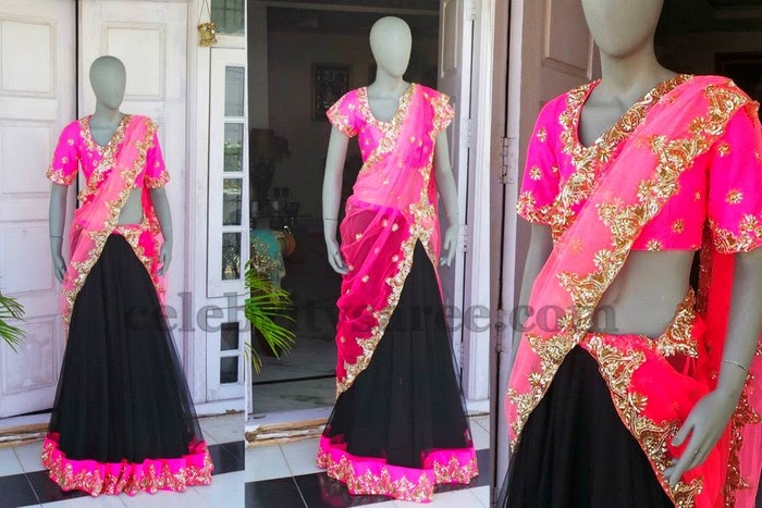 Trendy Black Half Saree by Shree&Deepthi