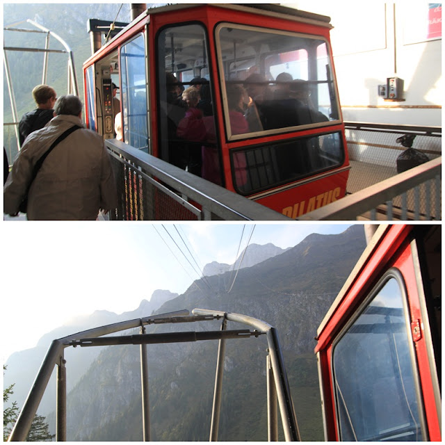 A 5-minute cableway ride with panoramic views before reaching to the top of Pilatus Kulm at Mount Pilatus in Lucerne, Switzerland