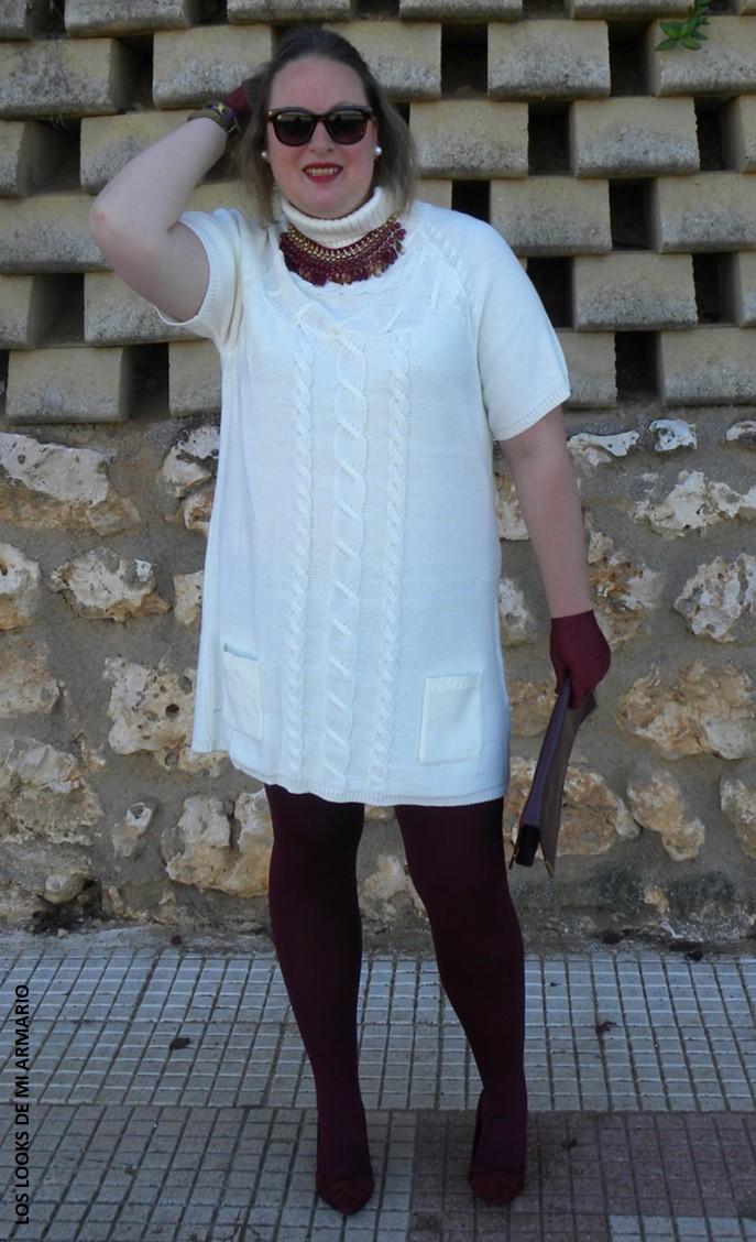 Vestido Blanco en Invierno u00b7 Look Curvy - Los Looks de mi Armario