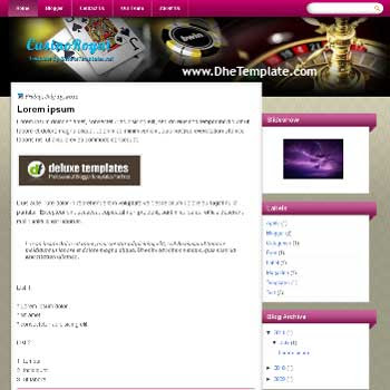 CasinoRoyal blogger template.