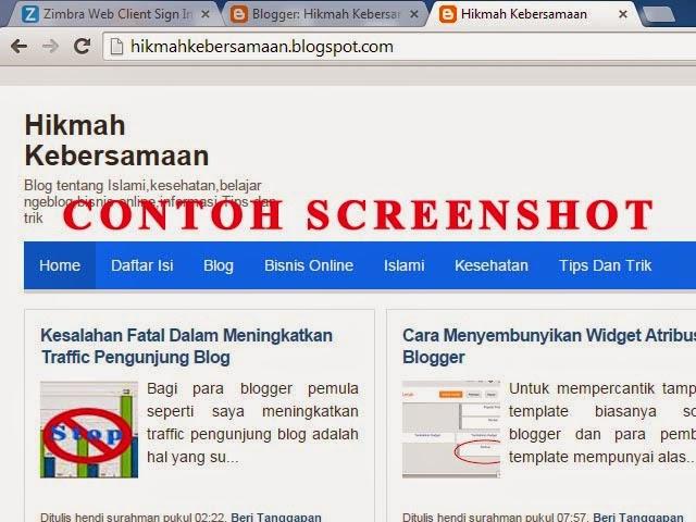 contoh hasil screenshot
