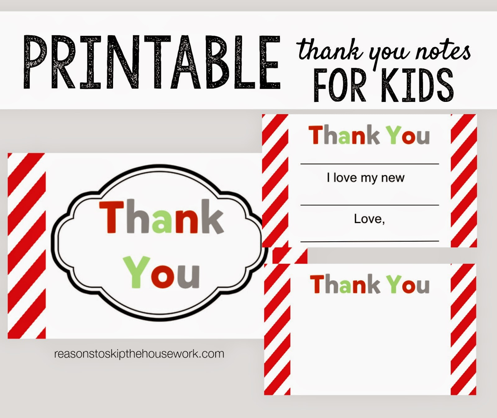 Free Printable Thank You Cards For Kids To Fill In