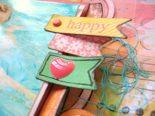 Missy Whidden Chickaniddy Crafts Summer Layout close-up 2