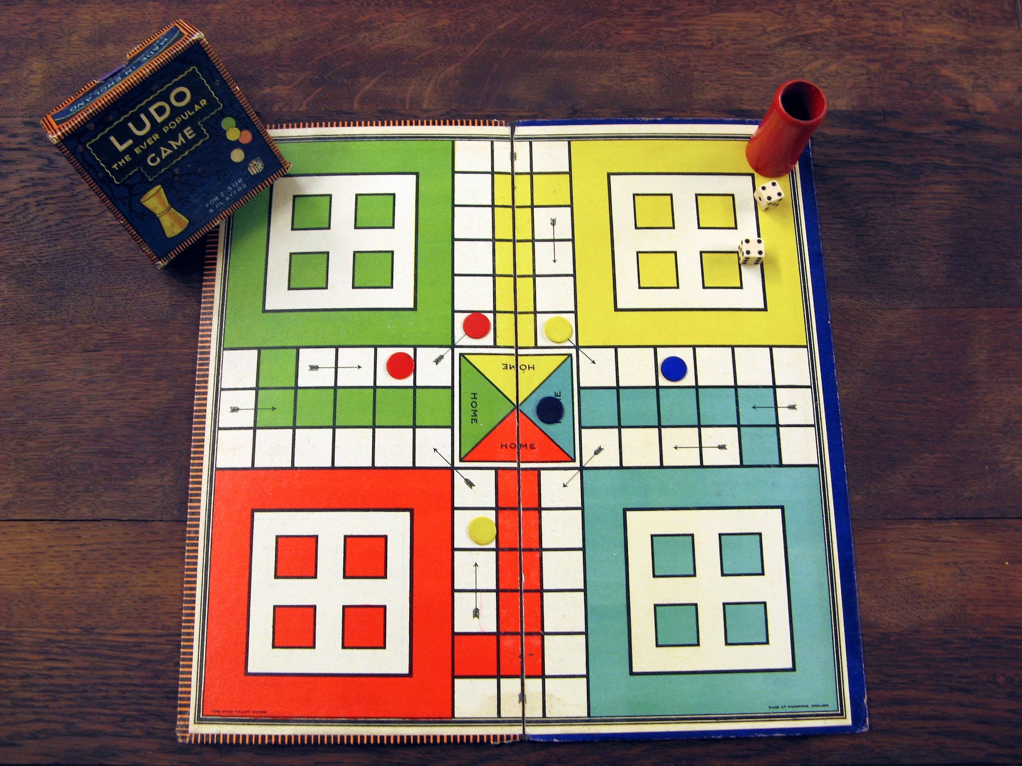 Ludo - Just one family-friendly Board Game you might play at Kawartha Lakes Mums Family Games Night linked to Free image source