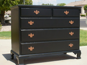 Black 5-Drawer Dresser  *SOLD*