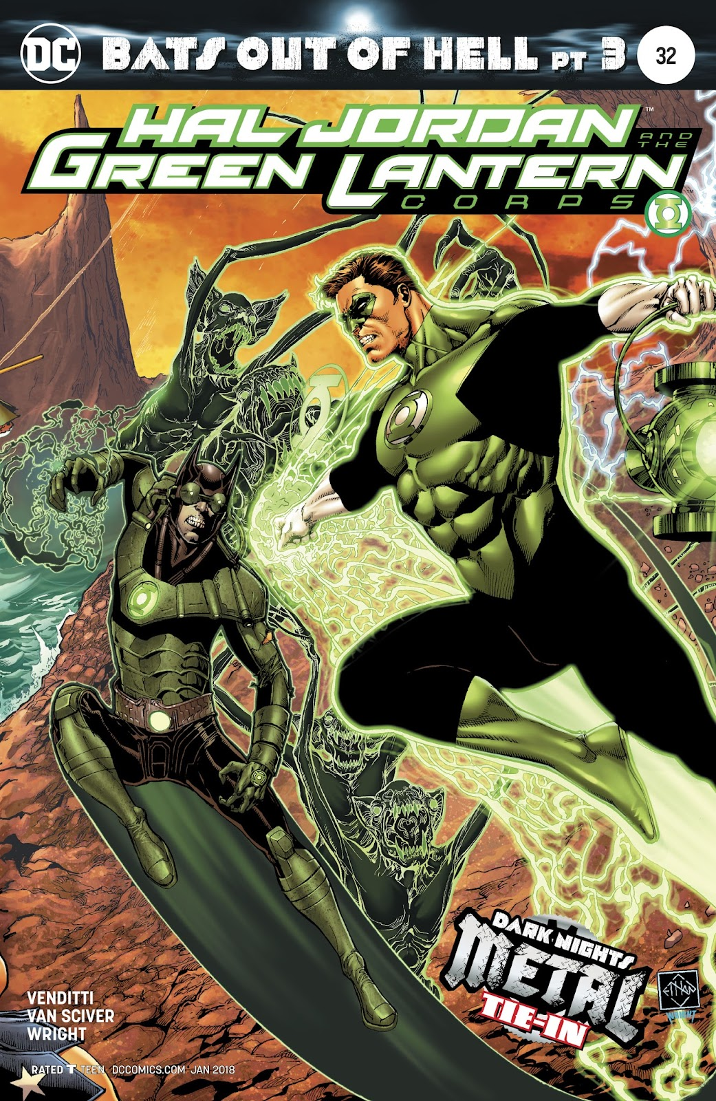 Hal Jordan & the Green Lantern Corps: Rebirth issue 32 - Page 1