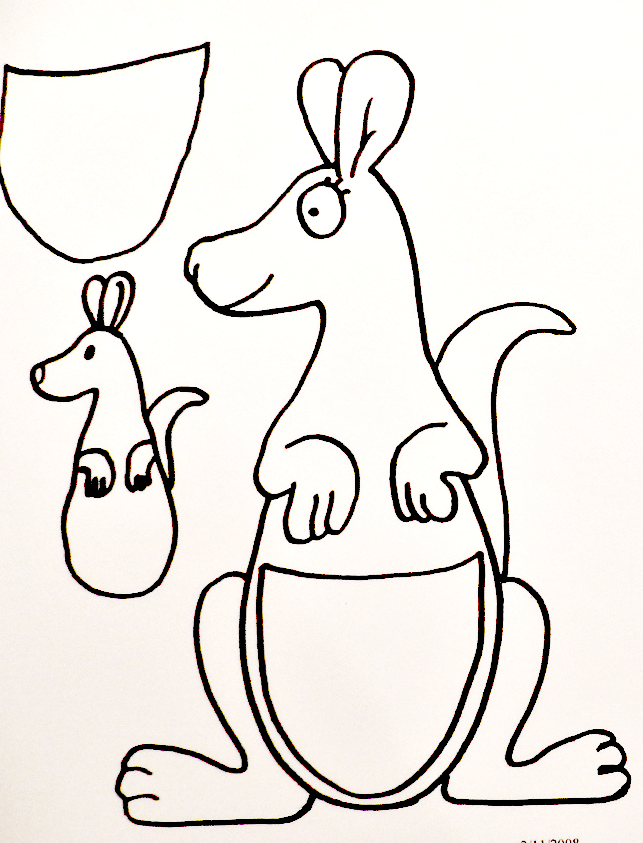 K is for Kangaroo craft template